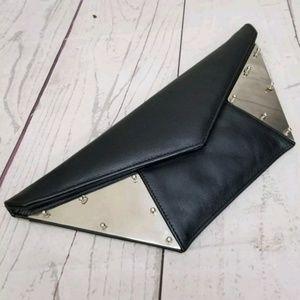 Kzeniya Wild Leather Clutch Envelope Metal Rivets